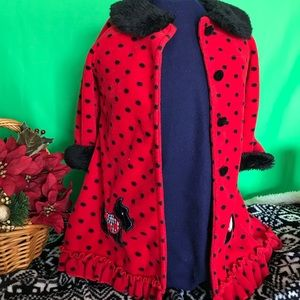 Toddler Coat with Scottie Dogs